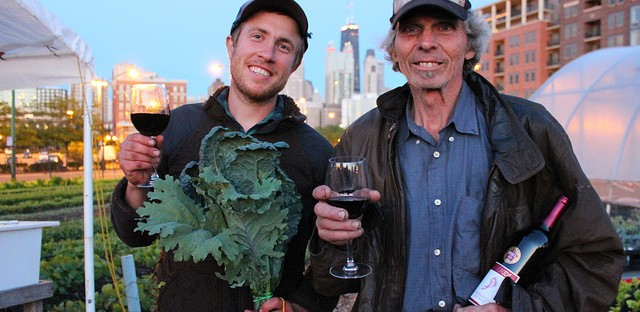 Dan Hurowitz and Ken Dunn at City Farm in Chicago