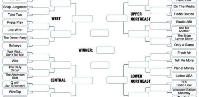 Even public radio has its own bracket these days.