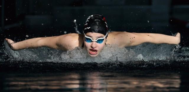 Yusra Mardini trains with the Wasserfreunde Spandau 04 swimming club in Berlin on March 9.