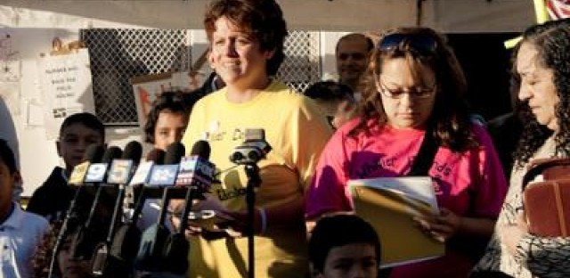Revision Street: Voices from Whittier Elementary School Field House -- Lisa Angonese, mid-forties
