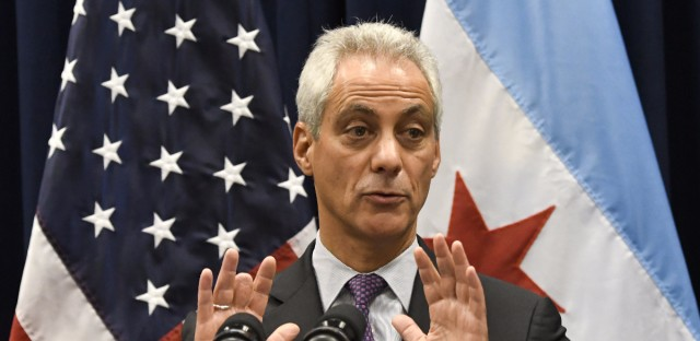 Chicago Mayor Rahm Emanuel speaks during a Jan. 25, 2017 press conference in Chicago.