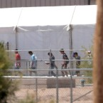 Migrant children in shelters