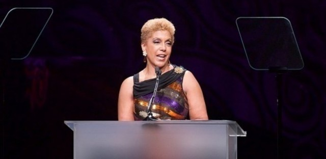 Chairman and CEO Linda Johnson Rice speaks at Ebony magazine's Power 100 Gala at the Beverly Hilton Hotel in Beverly Hills, Calif., last December.