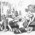 "This illustration depicts a yellow fever victim in a Jefferson Street home in Memphis. It's from a series of images entitled ""The Great Yellow Fever Scourge — Incidents Of Its Horrors In The Most Fatal District Of The Southern States."""