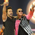 """Luis Fonsi and Daddy Yankee performing """"Despacito"""" onstage at the Billboard Latin Music Awards 2017. Sergi Alexander/Getty Images"""