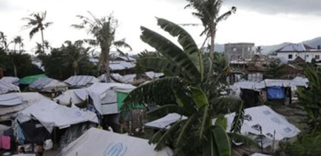 Aid group works to rebuild after the destruction from typhoon in Philippines