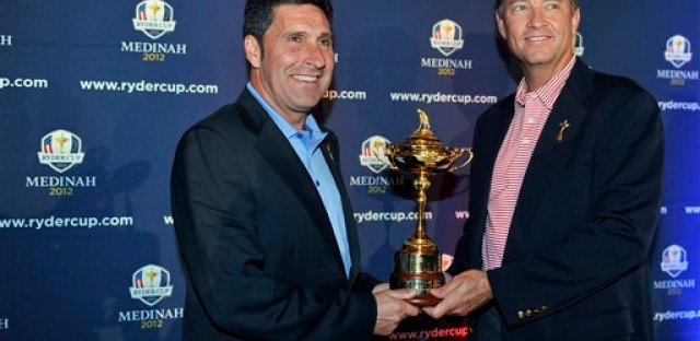 European Captain Jose Maria Olazabal and U.S Captain Davis Love III teams will compete for the Ryder Cup.