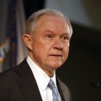 Attorney General Jeff Sessions speaks about crime to local, state and federal law enforcement officials in St. Louis, Mo. on March 31, 2017.