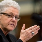 "FILE- In this March 17, 2016 file photo, EPA Administrator Gina McCarthy testifies on Capitol Hill in Washington before the House Oversight and Government Reform Committee hearing looking into the circumstances surrounding high levels of lead found in many residents' tap water in Flint, Mich. The nation's top environmental regulator is warning of ""systemic issues"" that threaten the long-term ability to provide safe drinking water to Flint after the city's lead contamination crisis subsides."