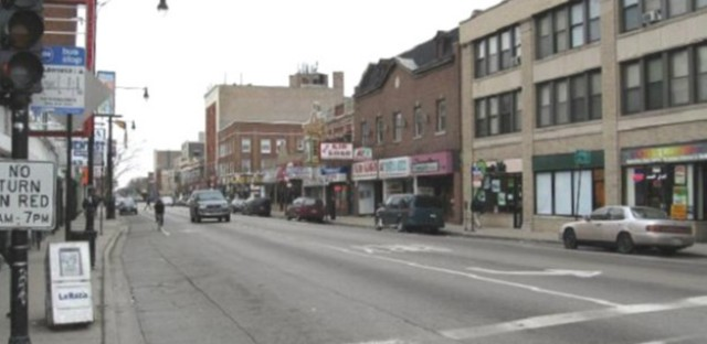 An empty Sunday morning at Lawrence and Kedzie