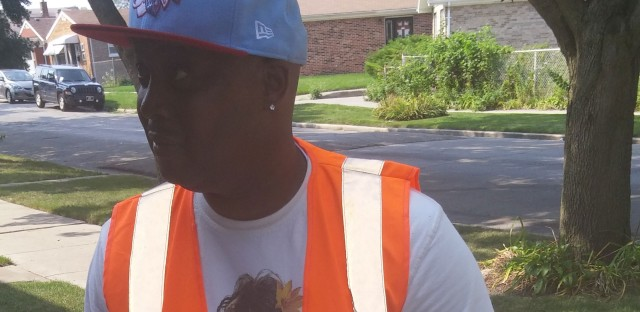Marcus Petty is part of street team knocking on the doors of CPS families. He's making sure students know the first day of school is Tuesday.