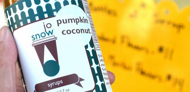 Jo Snow pumpkin coconut syrup at Logan Square Farmers Market