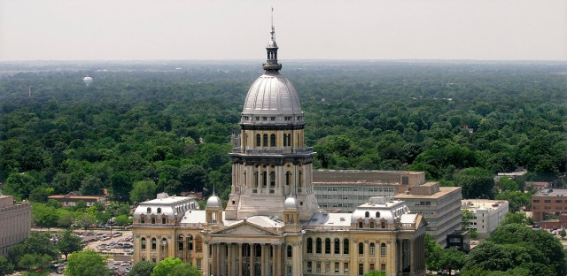 This June 21, 2006, file photo shows the Illinois State Capitol in Springfield.
