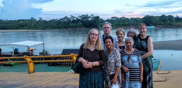 With Colombian friends from our childhood, on the Putumayo River.