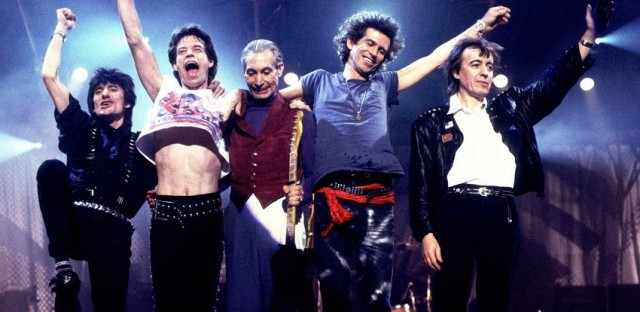 The Rolling Stones on the 'Steel Wheels Tour' in 1989.