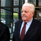 Former Chicago Police Cmdr. Jon Burge departs the Federal Courthouse after the first day of jury selection in his obstruction of justice and perjury trial in 2010 in Chicago.