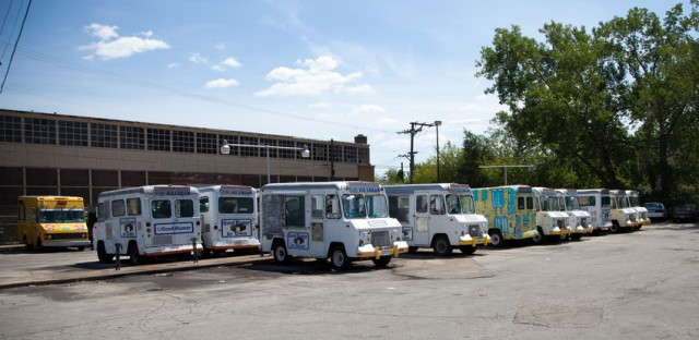 Some of the trucks in the Pars fleet.