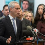 Chicago Mayor Rahm Emanuel speaks at a news conference