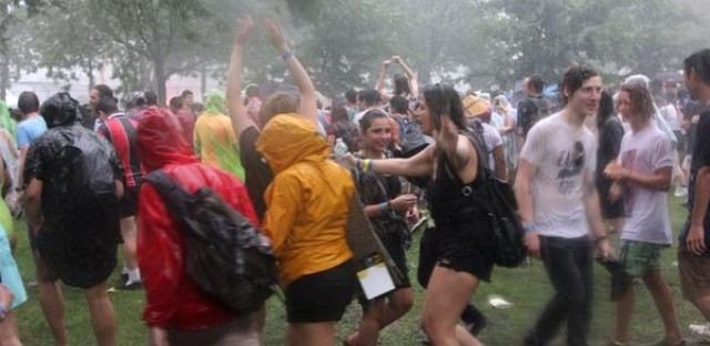 Violent weather at Pitchfork 2015.
