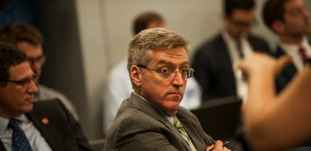 CPS Inspector General Nick Schuler at a Chicago Board of Education meeting on June 27, 2018.