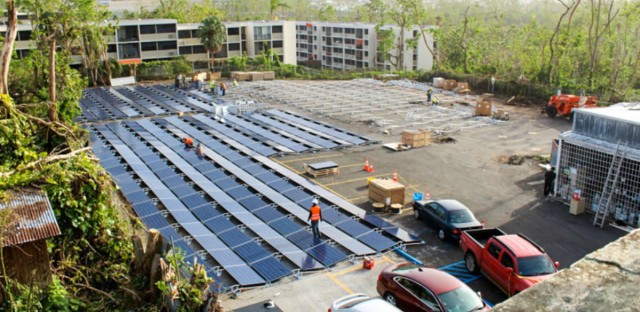 Weeks after Tesla founder Elon Musk and Gov. Ricardo Rossello spoke about the tech company aiding Puerto Rico, Tesla says it has restored electricity to a children's hospital, using solar energy and batteries.