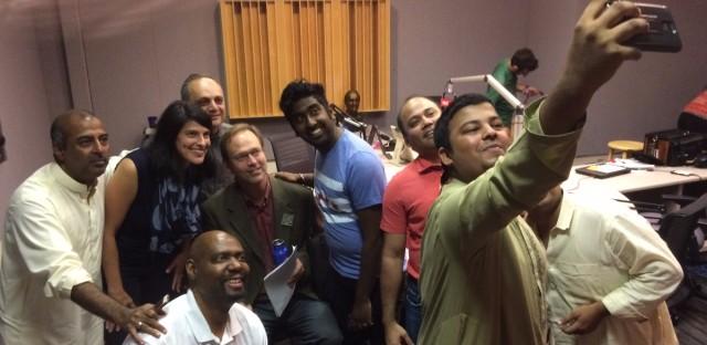 Qawwali Musicians And Zeshan Bagewadi in the Worldview Studio
