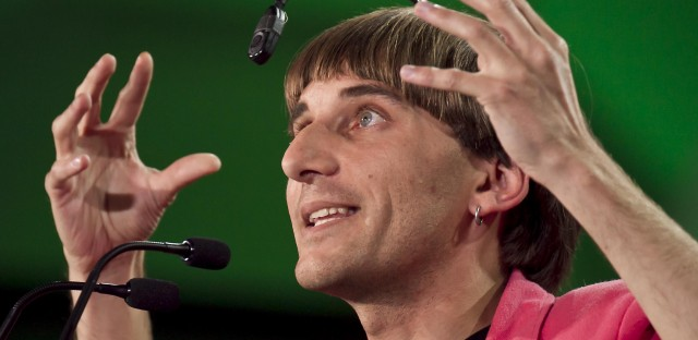 Neil Harbisson, an artist from Barcelona, has a camera implanted in the back of his head, which he says allows him to listen to colors.