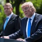 President Trump and Romania's President Klaus Iohannis