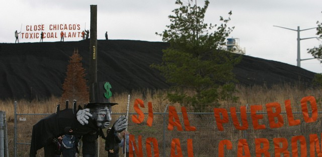 Activists from the Little Village Environmental Justice organization protested in 2011 against the Crawford coal plant, which closed in 2012
