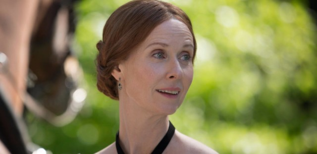 """Cynthia Nixon plays Emily Dickinson in Terence Davies' new film A Quiet Passion. """"I think she was afraid of life,"""" Davies says. """"Like a lot of geniuses, she had — skin missing. And that makes you very, very vulnerable."""" (Johan Voets/Hurricane Films/Courtesy of Music Box Films)"""