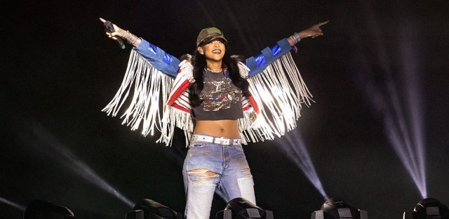 Rihanna performing at the Coachella Festival in California in April 2016.
