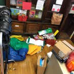 Teachers at Burke School say cleaners emptied out their closets and shelves on Saturday and left their material scattered across their classrooms.