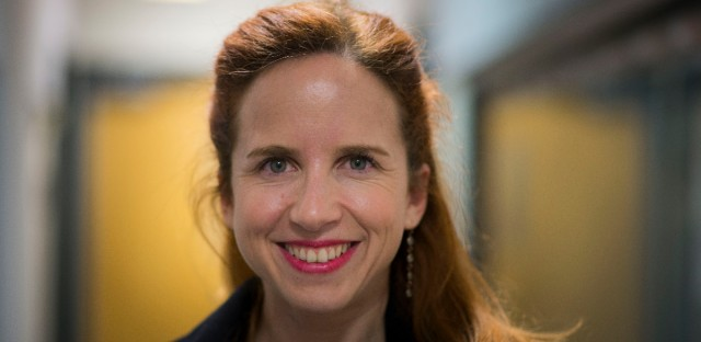 Stav Shaffir, a member of the Labour Party in Israel's Knesset, photographed after an interview at the WBEZ studios.
