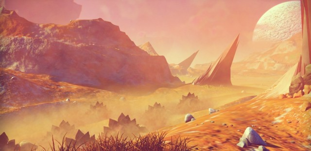 One of the many, many computer-generated worlds you can explore in No Man's Sky.