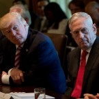 President Donald Trump and Defense Secretary Jim Mattis attend a Cabinet meeting, Monday, June 12, 2017, in the Cabinet Room of the White House in Washington.