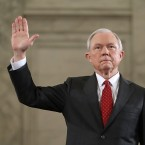 Sen. Jeff Sessions is sworn in before the Senate Judiciary Committee during his confirmation hearing to be the U.S. attorney general on Tuesday.