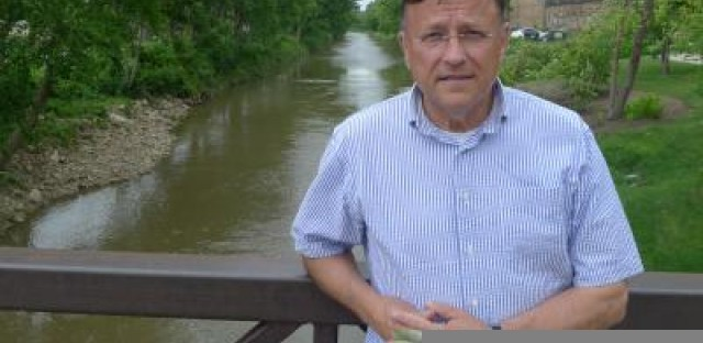 Jerry Adelman is a scholar of the Illinois and Michigan Canal, seen here in Lockport near the historic canal headquarters.