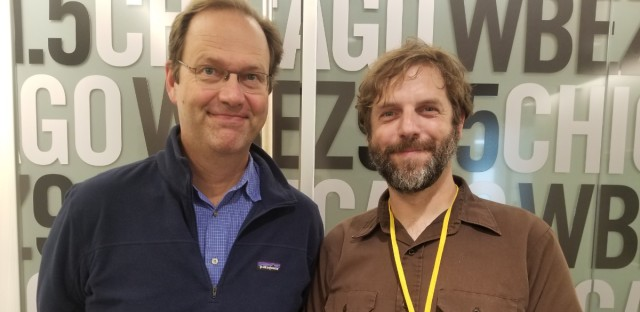 Jerome with former Worldview producer Tom Gaulkin.