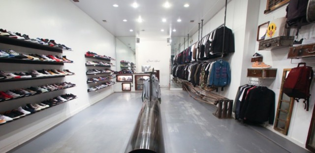 Inside of Saint Alfred, a sneaker and streetwear boutique located in Wicker Park.