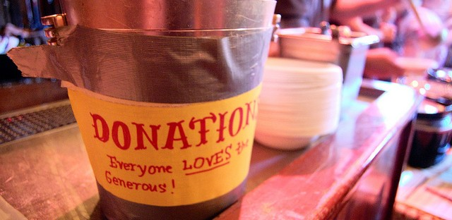 Soup & Bread donation bucket