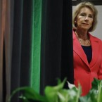 Education Secretary Betsy DeVos has faced lawsuits and opposition since her hotly debated confirmation in February. Jacquelyn Martin/AP