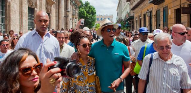 File: Jay-Z and Beyoncé visiting Cuba.
