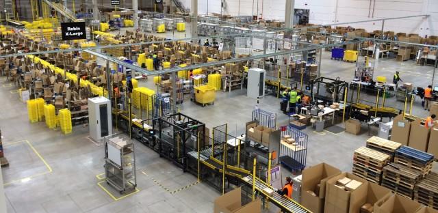 Amazon distribution center in Barcelona, Spain.