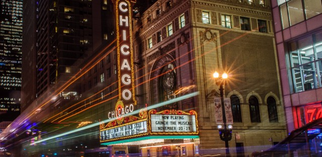 Chicago theater long exposure