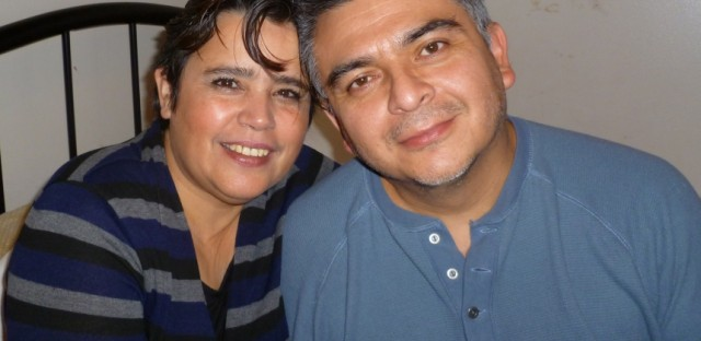 Carlos Centeno with his partner, Velia Carbot. Centeno was employed as a temp worker at a Chicago-area factory in 2011 when a solution of hot water and citric acid erupted from a 500-gallon tank, burning him over 80 percent of his body. His bosses refused to call 911, and more than 98 minutes passed before he arrived at a burn unit. He died three weeks later.