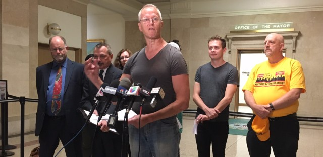Activist Andy Thayer is one of the plaintiffs suing the city over an alleged violation of the Illinois Open Meetings Act.