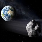 Asteroids regularly pass by  Earth, as depicted here. A new NASA system called Scout aims to identify the ones that will come closest to the planet.