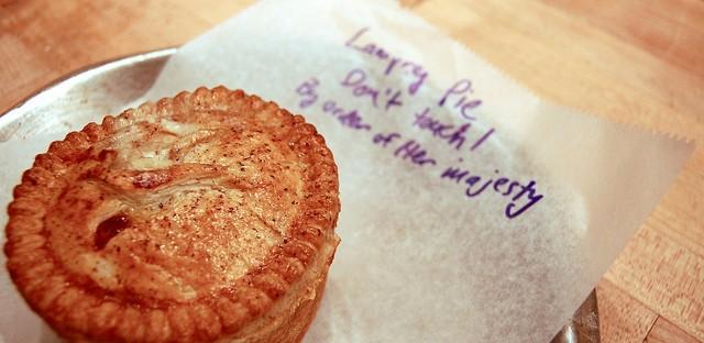 Lamprey pie at Pleasant House Bakery