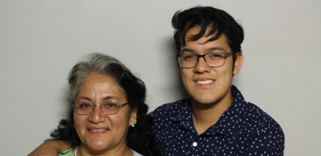 Paula Colin came to StoryCorps with her son Hugo.