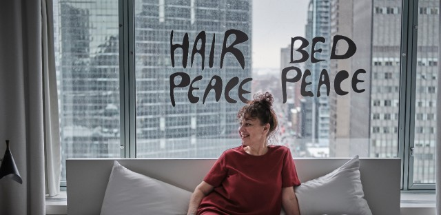 "The host and producer of Beat Latino on Vocalo Catalina Maria Johnson visited the hotel room where John Lennon and Yoko Ono had their legendary ""Bed-In for Peace."""